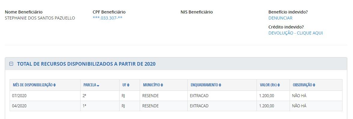 pagamento stephanie - Filha e sobrinhos do ex-ministro Pazuello receberam auxílio emergencial do governo federal - VEJA VALORES