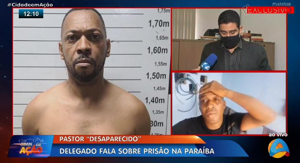 pastor preso - Irmão pede ajuda à TV Arapauan para encontrar pastor desaparecido e descobre ao vivo que ele está preso - VEJA VÍDEO