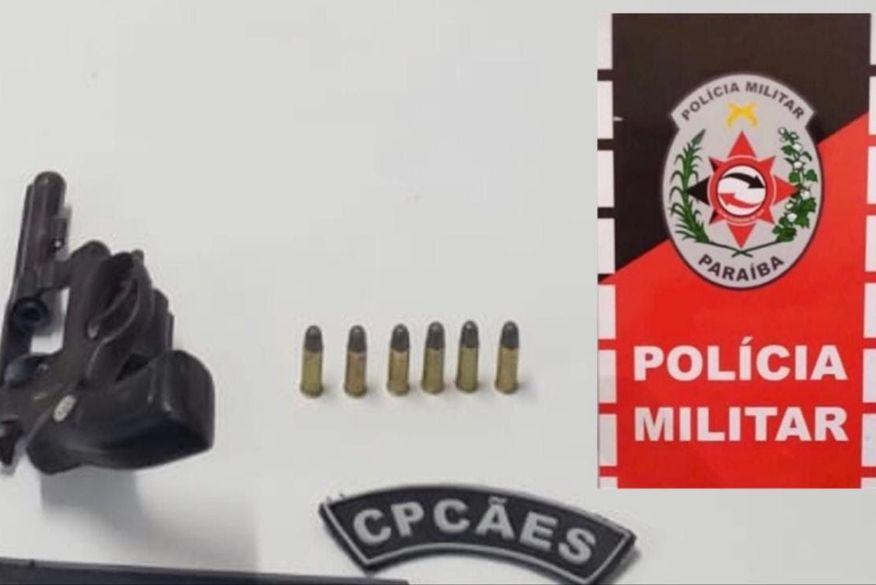 policia prende dupla com arma de fogo em terreno baldio em campina grande - Polícia prende dupla com arma de fogo em terreno baldio em Campina Grande
