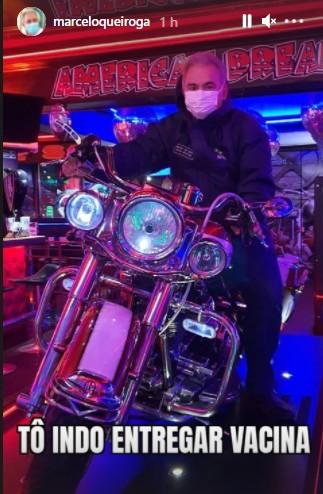 """queiroga - Queiroga posta foto em cima de moto e diz: """"Tô indo entregar vacina""""- VEJA"""
