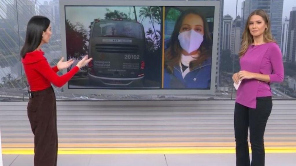 reporter acidente tv globo - SUSTO! Equipe da Globo é atingida por ônibus antes de entrar ao vivo em jornal