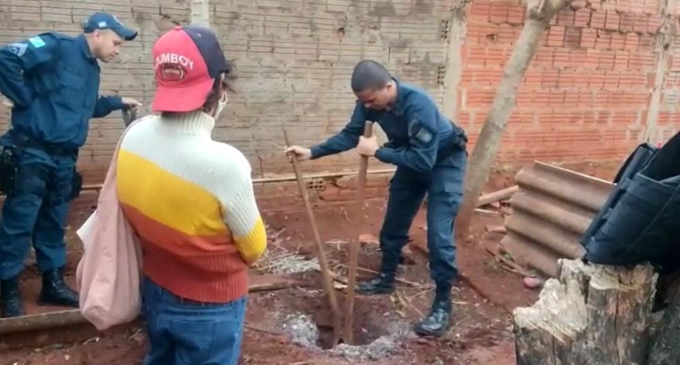 whatsapp image 2021 08 01 at 14.17.11 - GOLPES DE MARTELO: Polícia encontra corpo de idoso enterrado em quintal de casa; sobrinha confessou o assassinato