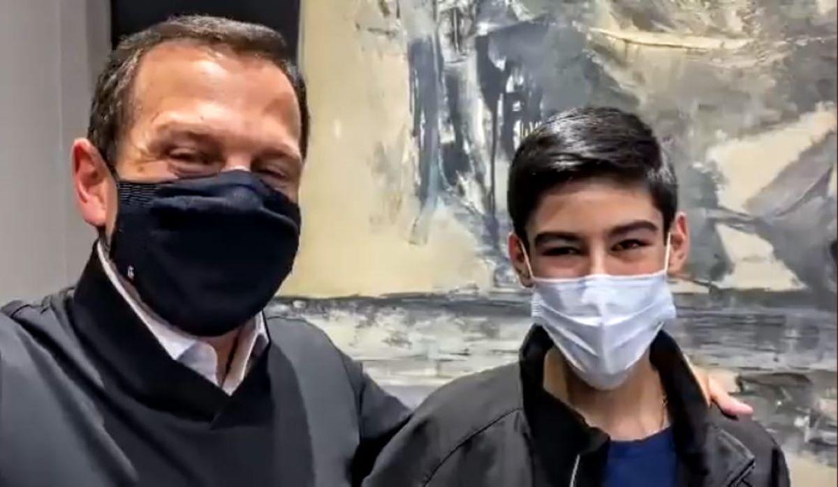 whatsapp image 2021 08 09 at 19.28.43  - Ao completar 16 anos, filho de Bruno Covas ganha de presente de Doria emprego no governo de SP - VEJA VÍDEO
