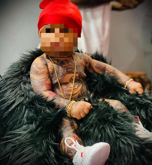 whatsapp image 2021 08 16 at 18.31.52 - Bebê tatuado causa polêmica nas redes sociais: 'Ameaçaram chamar a polícia', diz mãe