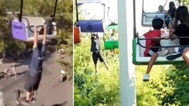 xblog fall.jpg.pagespeed.ic .hLwyyE64dB - Visitante de parque morre após ficar pendurado e cair de teleférico