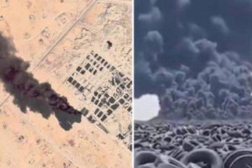 Fumaça no maior 'cemitério' de pneus do mundo é vista do espaço – VEJA VÍDEO