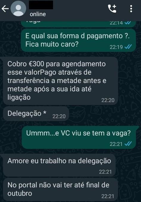 2 - Brasileira finge trabalhar no governo de Portugal para vender vagas no serviço de imigração