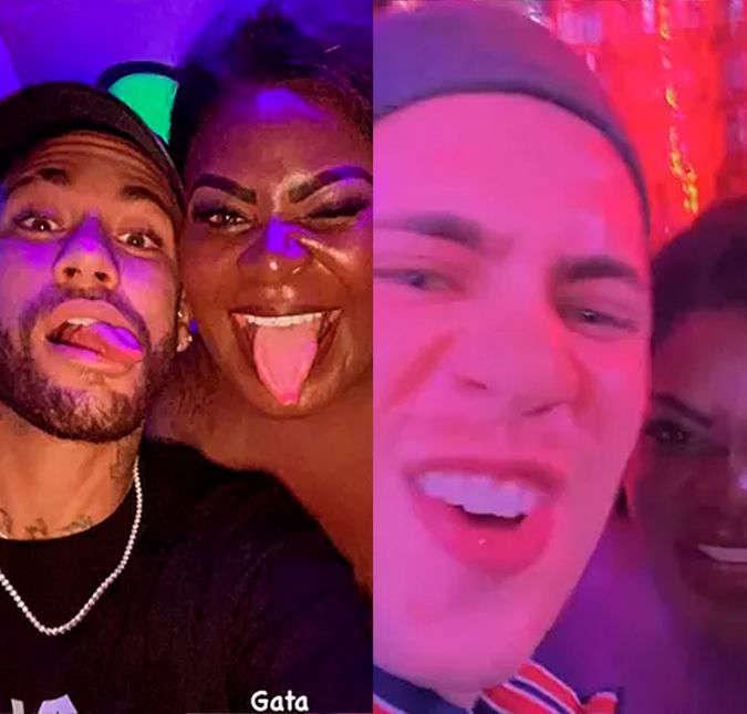 AAOXaHP - Em Paris, Neymar Jr. curte balada com Jojo Todynho e irmão de Jade Picon