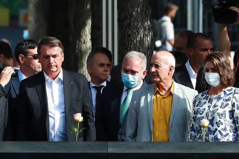 Bolsonaro e Michelle - Após contato com Queiroga em NY, Bolsonaro ficará por 5 dias em isolamento, anuncia Planalto