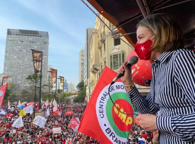 Captura de tela 2021 09 09 064732 - Gleisi anuncia união de 9 partidos pelo impeachment de Bolsonaro e ato nacional