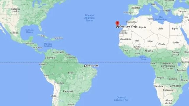 Captura de tela 2021 09 16 124146 - 'CUMBRE VIEJA': Vulcão capaz de gerar tsunami no litoral da Paraíbaentra em alerta amarelo de erupção; entenda