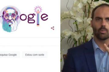 """Captura de tela 2021 09 20 100724 360x240 - Google homenageia Paulo Freire e Eduardo Bolsonaro se desespera: """"Próximo é o Lula"""""""
