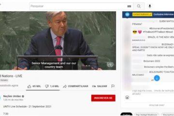 """Captura de tela 2021 09 21 110426 360x240 - PALCO DE GUERRA: caixa de comentários da ONU no YouTube reúne críticos e apoiadores de Boslonaro: """"vergonha pro Brasil"""""""