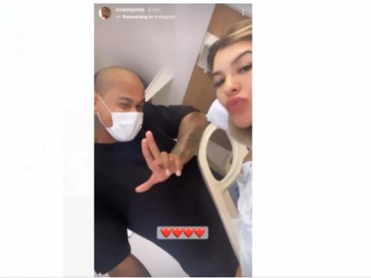 Captura de tela 2021 09 26 142524 - Filha de Lore Improta e Léo Santana nasce em Salvador: 'Linda...a cara do pai', brinca cantor