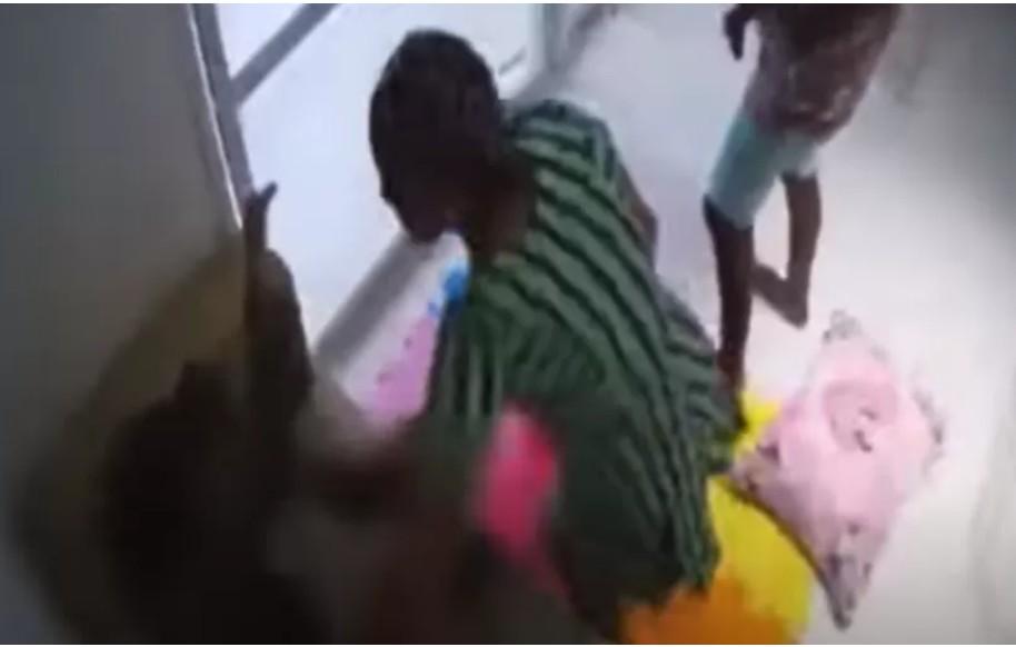 Capturar 3 - IMAGENS FORTES: Vídeo mostra agressão de patroa contra babá que pulou de prédio; confira