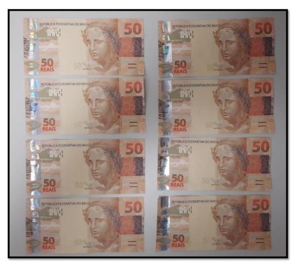 Cedula falsa 3 - EM JP: Servidor público estadual é preso pela PF ao receber encomenda com R$ 1 mil em cédulas falsas