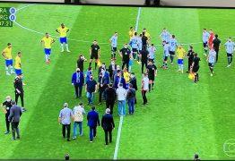 Vexame: Anvisa interrompe jogo das eliminatórias após jogadores da Argentina burlarem protocolos sanitários do Brasil; VEJA VÍDEO