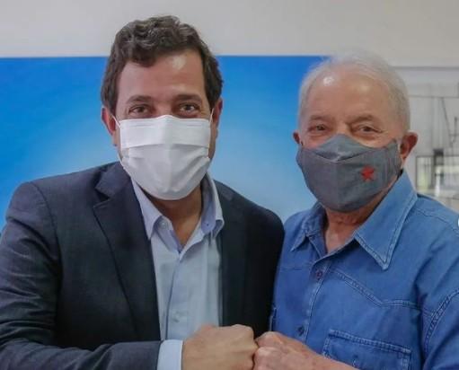 GERVASIO MAIA E LUA - Gervásio se reúne com Lula e defende apoio do PSB ao petista em 2022: 'partidos irmãos'