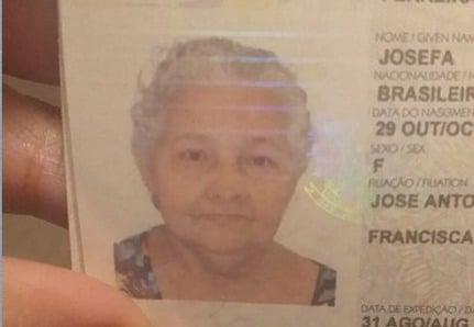 """Josefa Figueira Da Silva 69 anos foi cremada por engano no lugar de outra idosa 1 - Hospital troca corpos e idosa é cremada por engano e família lamenta: """"Jamais gostaria de ser cremada"""""""