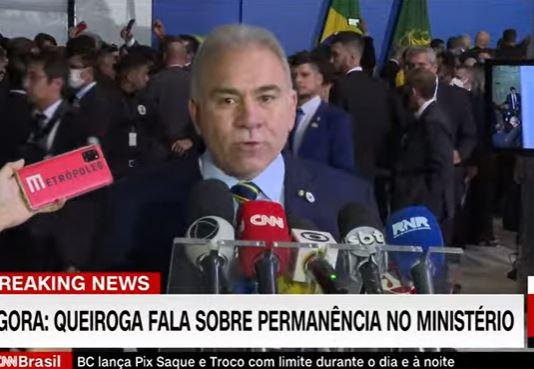 MARCELO QUEIROGA MINISTRO - Marcelo Queiroga desmente pedido demissão: 'indústria de boatos e fake news'