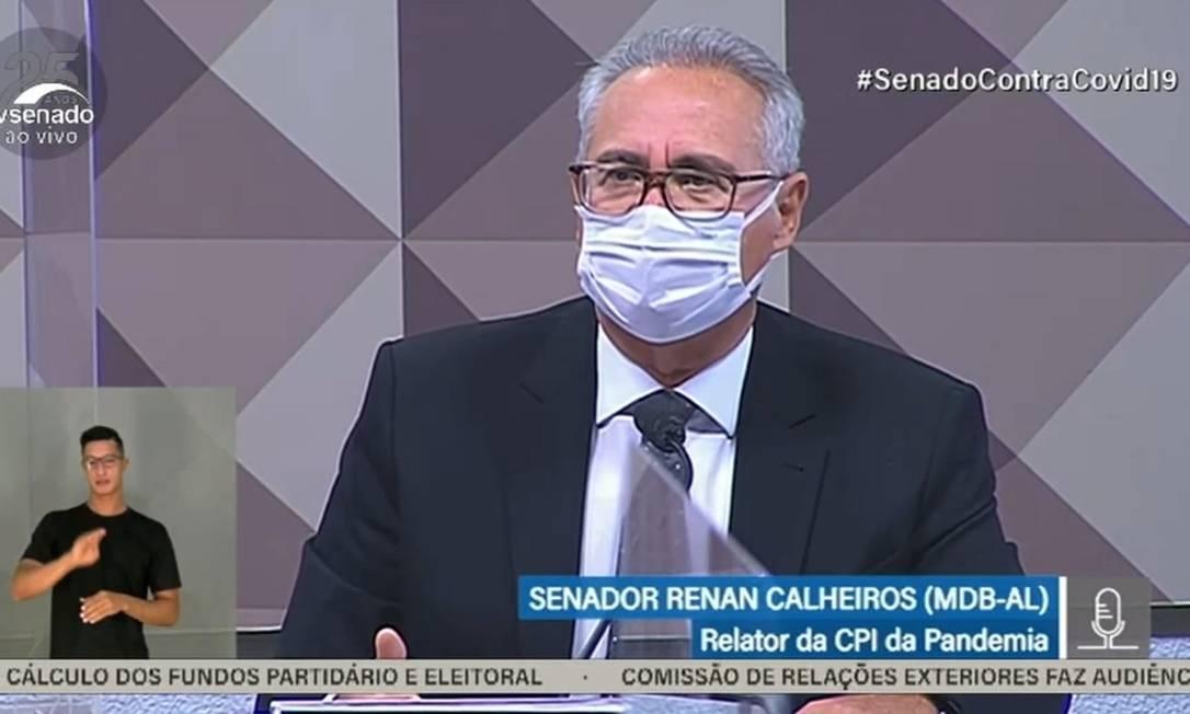 """Renan Calheiros 2021 09 29 at 11.46.23.jpeg - BATE-BOCA: Renan chama Hang de """"bobo da corte"""", Flávio Bolsonaro sai em defesa do empresário e chama senador de """"palhaço"""""""