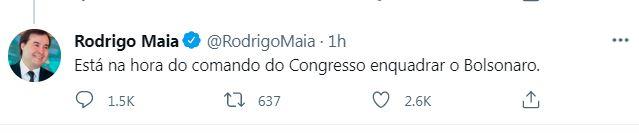Rodrigo Maia - LIDERANÇAS SOBEM O TOM: Discurso de Bolsonaro impulsiona adesões à tese de impeachment
