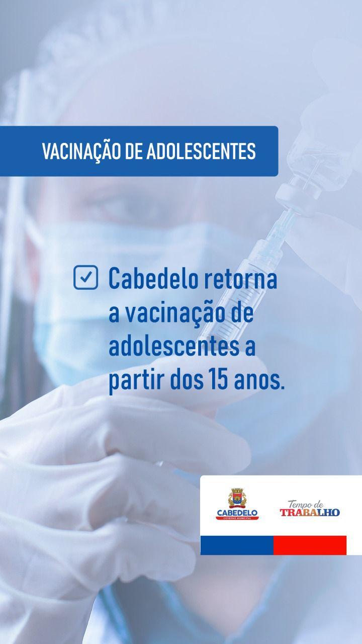 WhatsApp Image 2021 09 02 at 18.07.58 - Cabedelo retoma aplicação da 1ª dose contra a Covid em adolescentes a partir dos 15 anos sem comorbidades