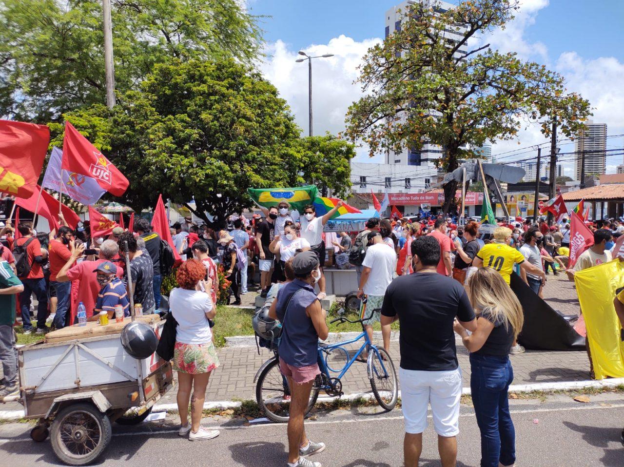 WhatsApp Image 2021 09 07 at 10.29.00 scaled - GRITO DOS EXCLUÍDOS: Manifestantes iniciam atos no Dia da Pátria em João Pessoa - VEJA VÍDEO