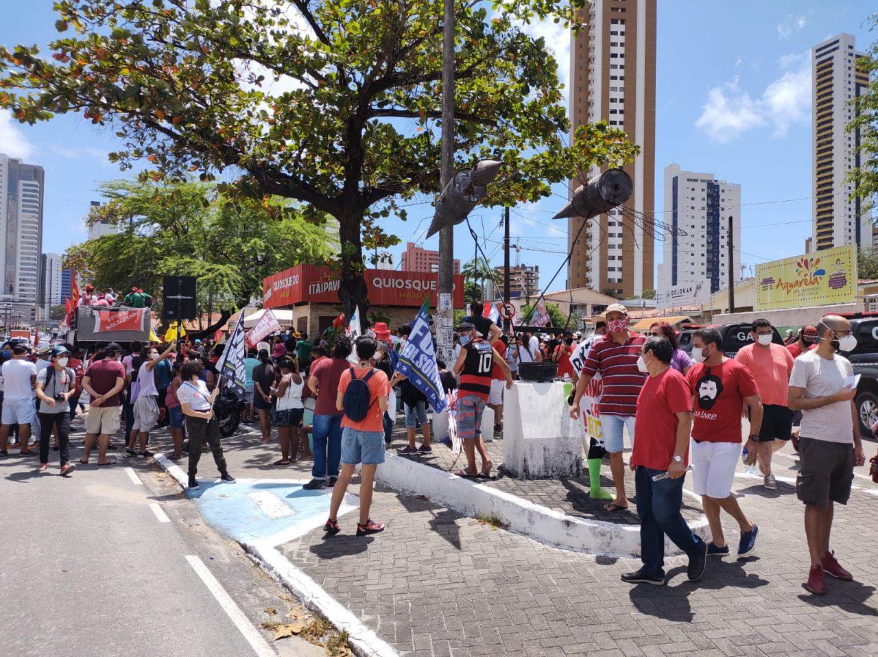 WhatsApp Image 2021 09 07 at 10.29.04 scaled - GRITO DOS EXCLUÍDOS: Manifestantes iniciam atos no Dia da Pátria em João Pessoa - VEJA VÍDEO