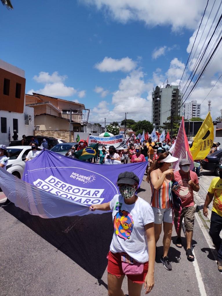 WhatsApp Image 2021 09 07 at 10.52.46 - GRITO DOS EXCLUÍDOS: Manifestantes iniciam atos no Dia da Pátria em João Pessoa - VEJA VÍDEO