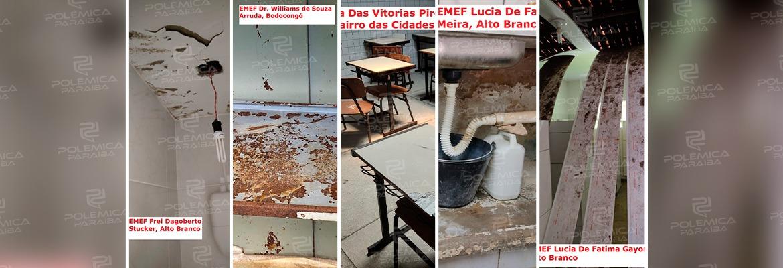 WhatsApp Image 2021 09 15 at 09.50.17 - Prestes ao retorno das aulas, levantamento aponta que escolas e creches da PMCG estão abandonadas; confira