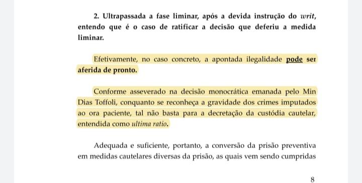 WhatsApp Image 2021 09 15 at 12.31.31 - Prisão de Roberto Santiago em 2019 na Xeque-Mate foi ilegal, diz STF - VEJA O DOCUMENTO