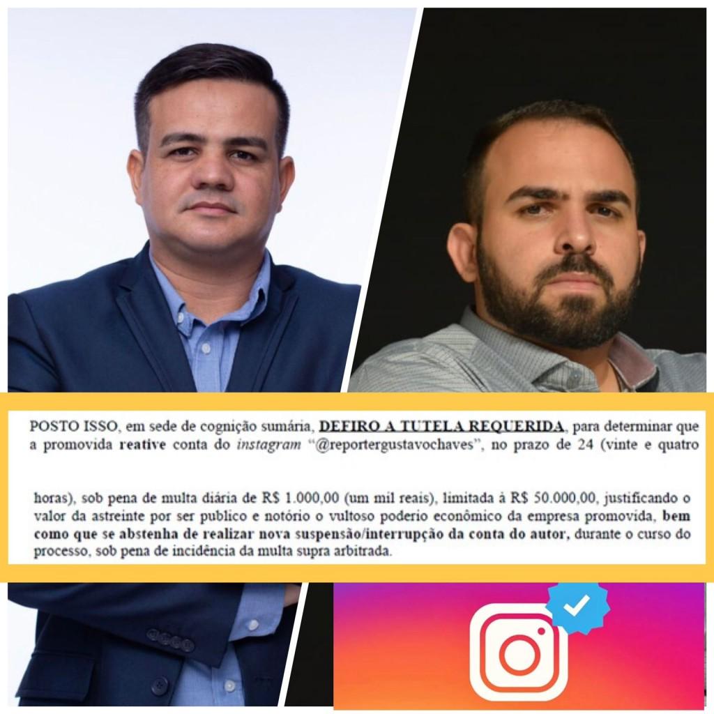 WhatsApp Image 2021 09 15 at 18.46.17 1 - 'Liberdade de comunicação': Justiça determina reativação 'imediata' de perfil do repórter Gustavo Chaves no Instagram