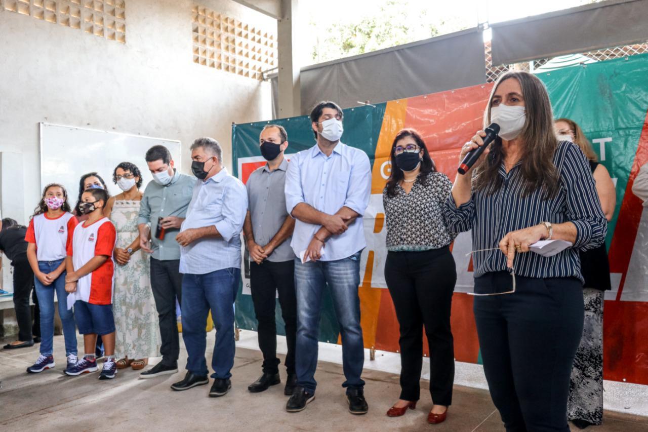 WhatsApp Image 2021 09 16 at 10.26.42 - Leo Bezerra assina ordem de serviço para reforma da Escola Analice Gonçalves de Carvalho