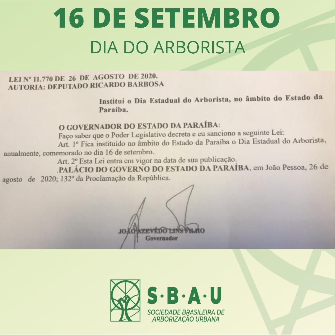 WhatsApp Image 2021 09 16 at 12.20.18 - Paraiba celebra o Dia do Arborista nesta quinta-feira; a lei é de autoria do Deputado Estadual Ricardo Barbosa