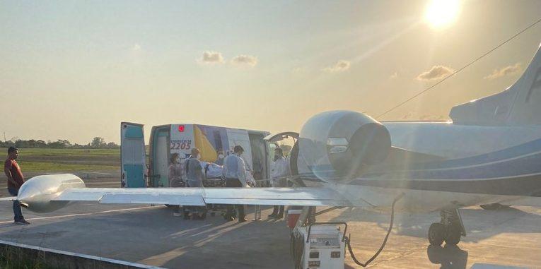 WhatsApp Image 2021 09 16 at 18.53.01 e1631833327282 - Com Covid-19, secretário Ronaldo Guerra é transferido em avião para São Paulo; VEJA VÍDEO