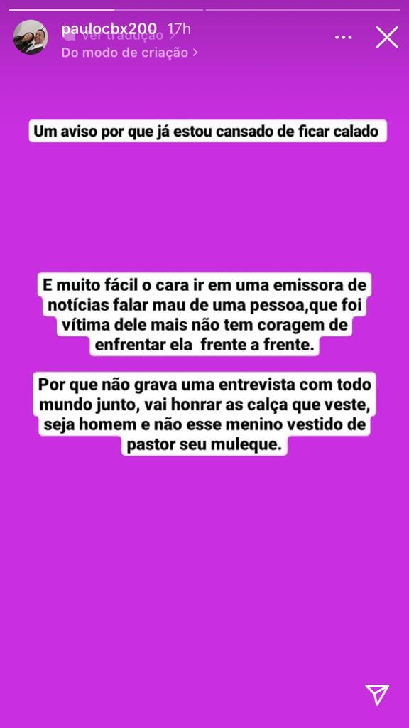 """WhatsApp Image 2021 09 20 at 16.23.07 - Samuel Mariano fala sobre Monalisa Feitosa em entrevista, e esposo traído rebate: """"Moleque! Grava com todo mundo junto"""""""