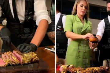 """WhatsApp Image 2021 09 21 at 11.43.59 360x240 - Deolane Bezerra ironiza OAB ao mostrar carne banhada a ouro: """"Quem gosta de ouro é eu viu?"""" - VEJA VÍDEO"""