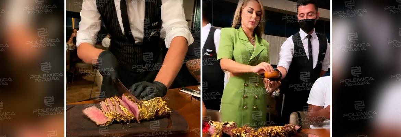 """WhatsApp Image 2021 09 21 at 11.43.59 - Deolane Bezerra ironiza OAB ao mostrar carne banhada a ouro: """"Quem gosta de ouro é eu viu?"""" - VEJA VÍDEO"""