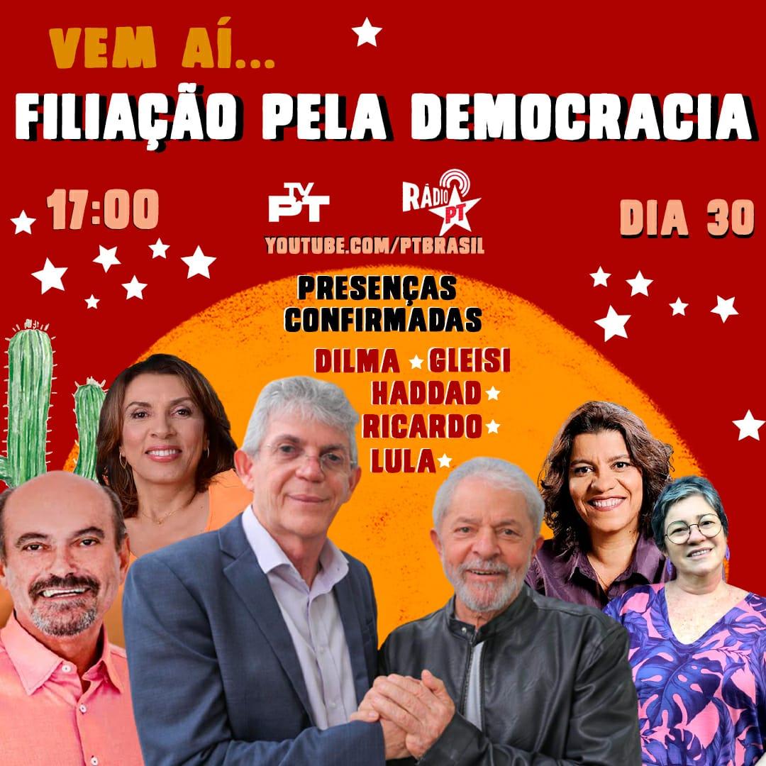 WhatsApp Image 2021 09 27 at 11.59.37 - Estela, Cida e Jeová farão ato político no PT, mas filiação só será oficializada na 'janela partidária'