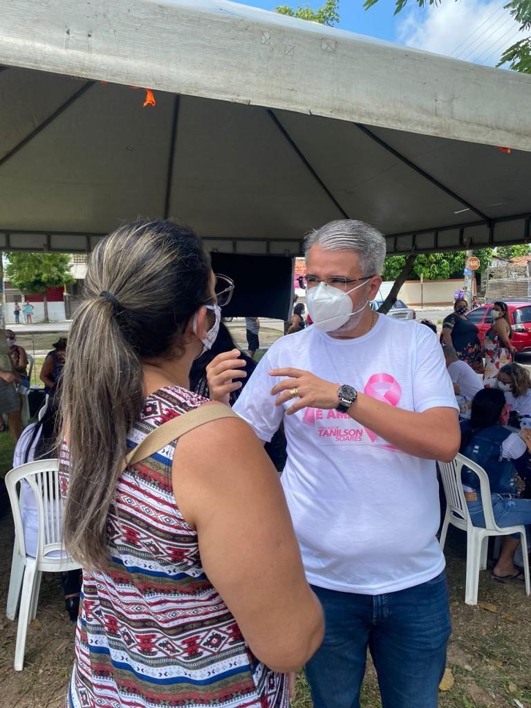WhatsApp Image 2021 09 27 at 12.47.23 1 - Vereador Tanilson leva 'Caminhão da Saúde' para Mangabeira e realiza mamografias e outros exames em JP