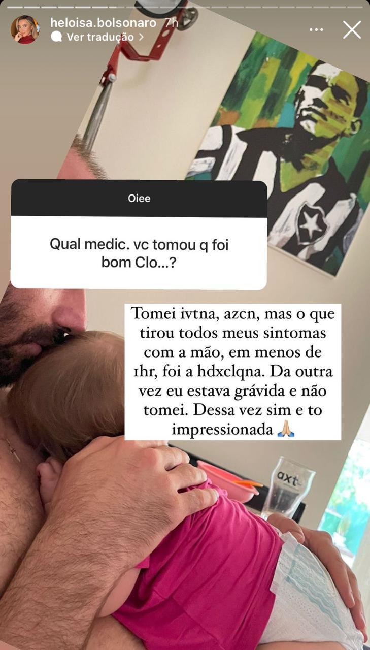 """WhatsApp Image 2021 09 27 at 16.35.47 - """"KIT COVID"""": Mulher e filha de Eduardo Bolsonaro testam positivo para Covid-19; esposa do deputado diz que não tomou vacina e que fez uso da cloroquina"""