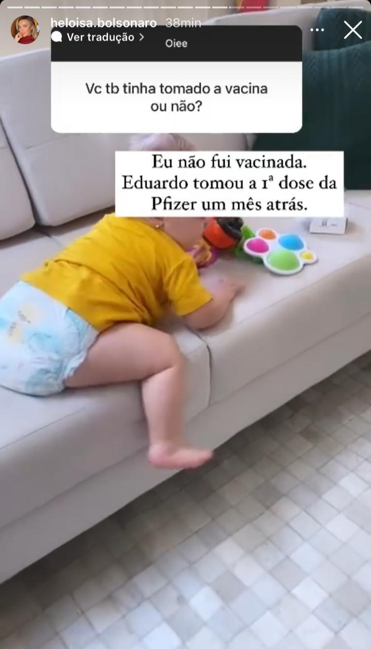"""WhatsApp Image 2021 09 27 at 16.37.16 - """"KIT COVID"""": Mulher e filha de Eduardo Bolsonaro testam positivo para Covid-19; esposa do deputado diz que não tomou vacina e que fez uso da cloroquina"""