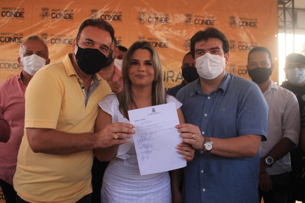 WhatsApp Image 2021 09 30 at 10.09.51 - Karla Pimentel autoriza retomada de obras da escola Noêmia Alves no Conde