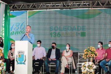 """Em Soledade, Aguinaldo comemora os 136 anos de emancipação do município e reforça: """"Seguirei trabalhando para garantir novas conquistas para a cidade"""""""