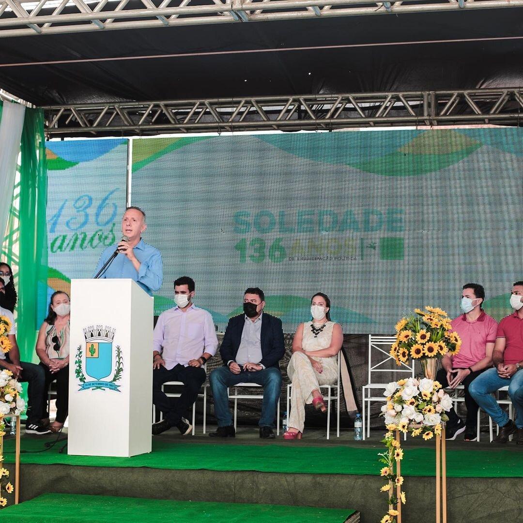 """a85f1fd2 59e9 44d4 999e 32e048b378e8 - Em Soledade, Aguinaldo comemora os 136 anos de emancipação do município e reforça: """"Seguirei trabalhando para garantir novas conquistas para a cidade"""""""