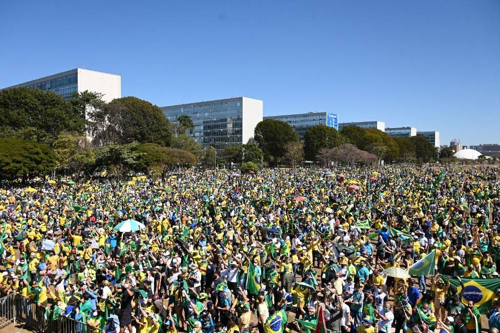 afp manifestacao pro bolsonaro 1500 25082021101032558 - 7 de setembro: a poucos dias de manifestação, ocupação de hotéis chega a 97% em Brasília