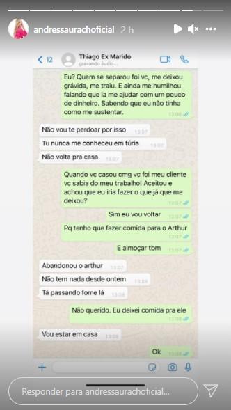 """andressa 1 - """"Estou sendo ameaçada"""", diz Andressa Urach ao expor conversas com ex-marido nas redes sociais"""