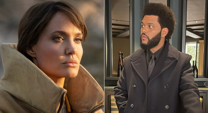 angelina jolie the weeknd 27092021093054327 - Angelina Jolie e The Weeknd aumentam rumores de affair após jantar