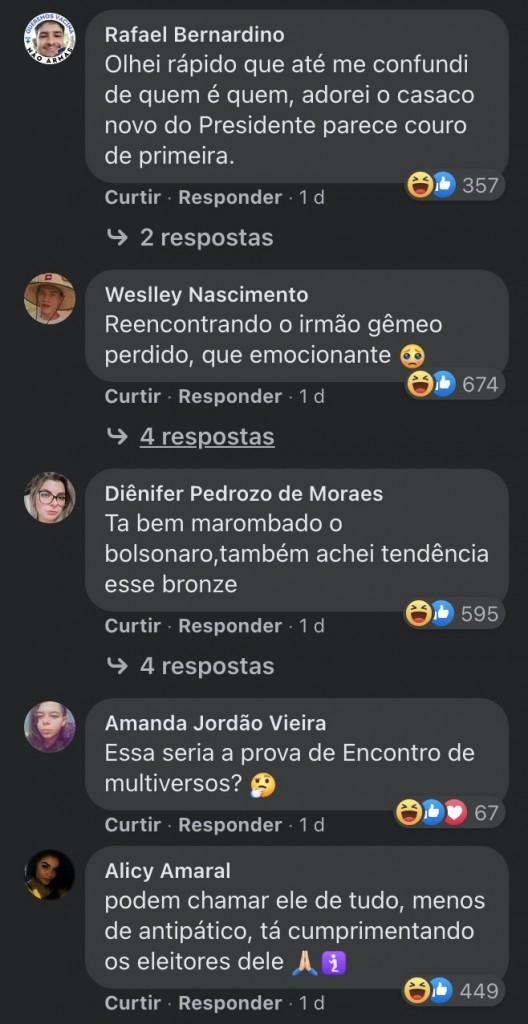 boi planalto facebook 1 - Foto de Bolsonaro acariciando um boi vira piada em post do governo federal